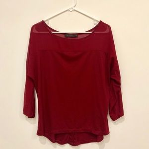 Illusion Top with Hi-lo hem and Button Detail